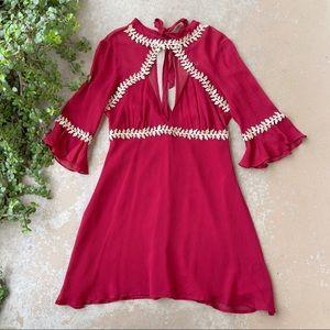 For Love and Lemons Lille Burgundy Mini Dress